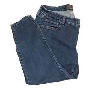 Torrid Premium Blue Jeans with Gold Zipper Ankles